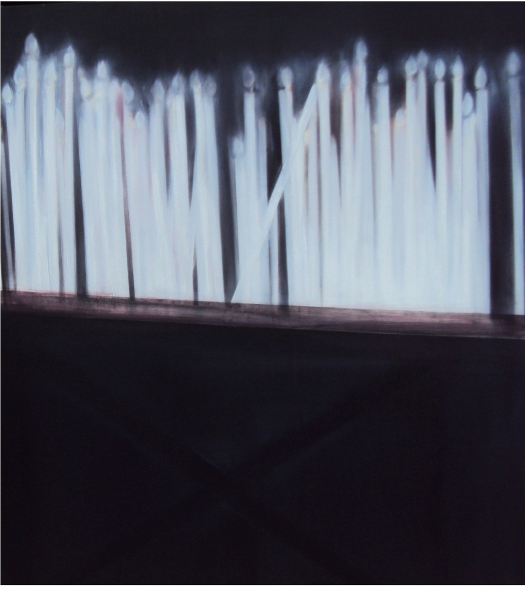 Alma Bakiaj, Untitled, 100x100cm, oil on canvas, 2011
