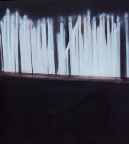 Alma Bakiaj, Untitled, 100x100cm, oil on canvas, 2011